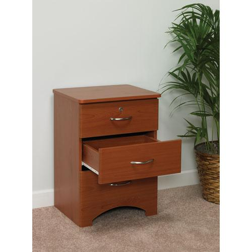 Oslo Bedside Cabinet 3 Drawer Cherry