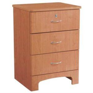 Oslo Bedside Cabinet 3 Drawer Oak