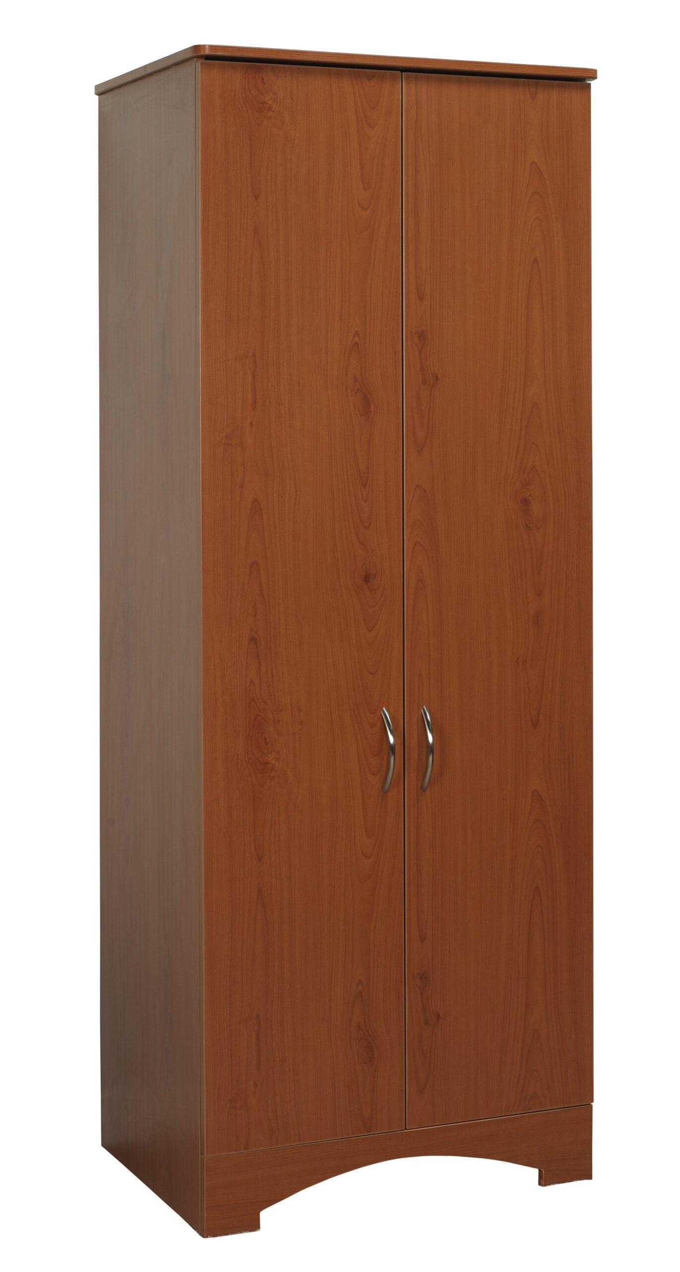 Oslo Wardrobe Lg 2 Door Figured Mahogany