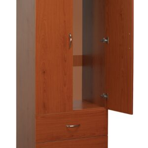 Oslo Wardrobe Lg 2 Drawer / 2 Door Cherry