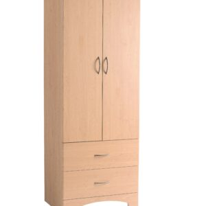 Oslo Wardrobe Lg 2 Drawer / 2 Door Oak