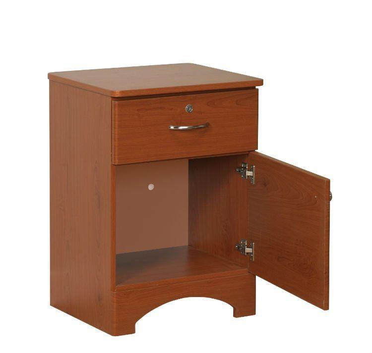 Oslo Bedside Cabinet 1 Drawer / 1 Door  Cherry
