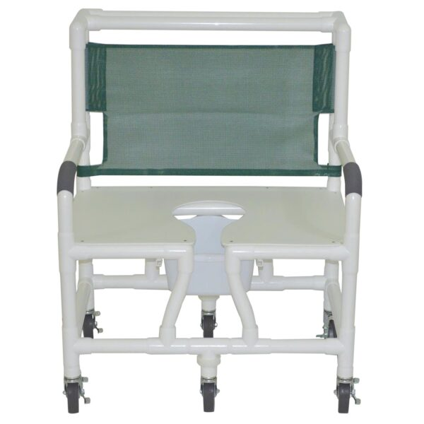 MJM Shower Chair - Standard Line Bariatric 30 Inch w/ Commode