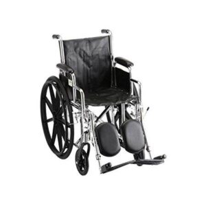 """Wheelchair 18"""" Vinyl Desk Length Arms W/ Elevated Leg Rests (Free Shipping)"""