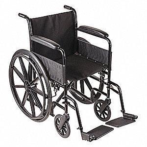 "Wheelchair 16"" Vinyl Desk Length Arms W/ Swing Away Leg Rest"