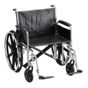 "Wheelchair 20"" Vinyl Desk Length Arms W/ Swing Away Leg Rests"