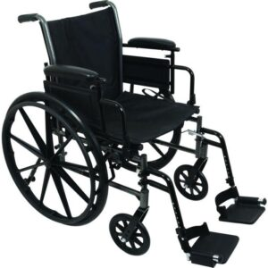 """Wheelchair 16"""" Desk Length Arms W/ Swing Away Foot Rests (FREE SHIPPING)"""