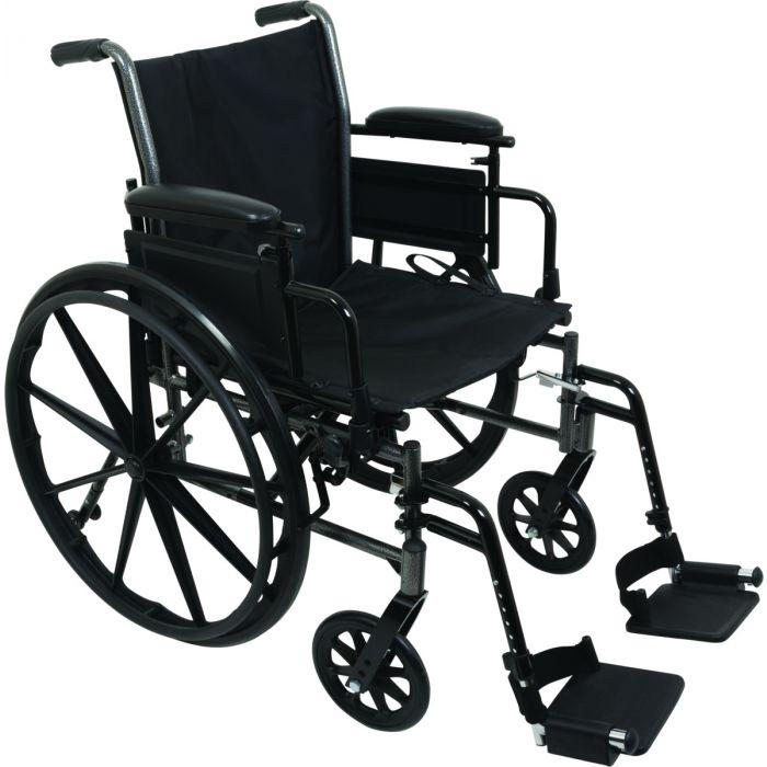 """Wheelchair 18"""" Desk Length Arms W/ Swing Away Foot Rests (FREE SHIPPING)"""