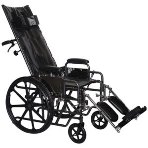 """Wheelchair Recliner 20"""" Desk Length Arms W/ Elevated Leg Rests (Free Shipping)"""