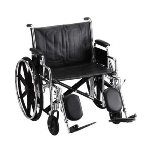"""Wheelchair 22""""  Removable Desk Length Arms W/ Elevated Leg Rests"""